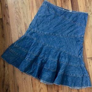 DKNY   full denim Jean skirt Sz 2